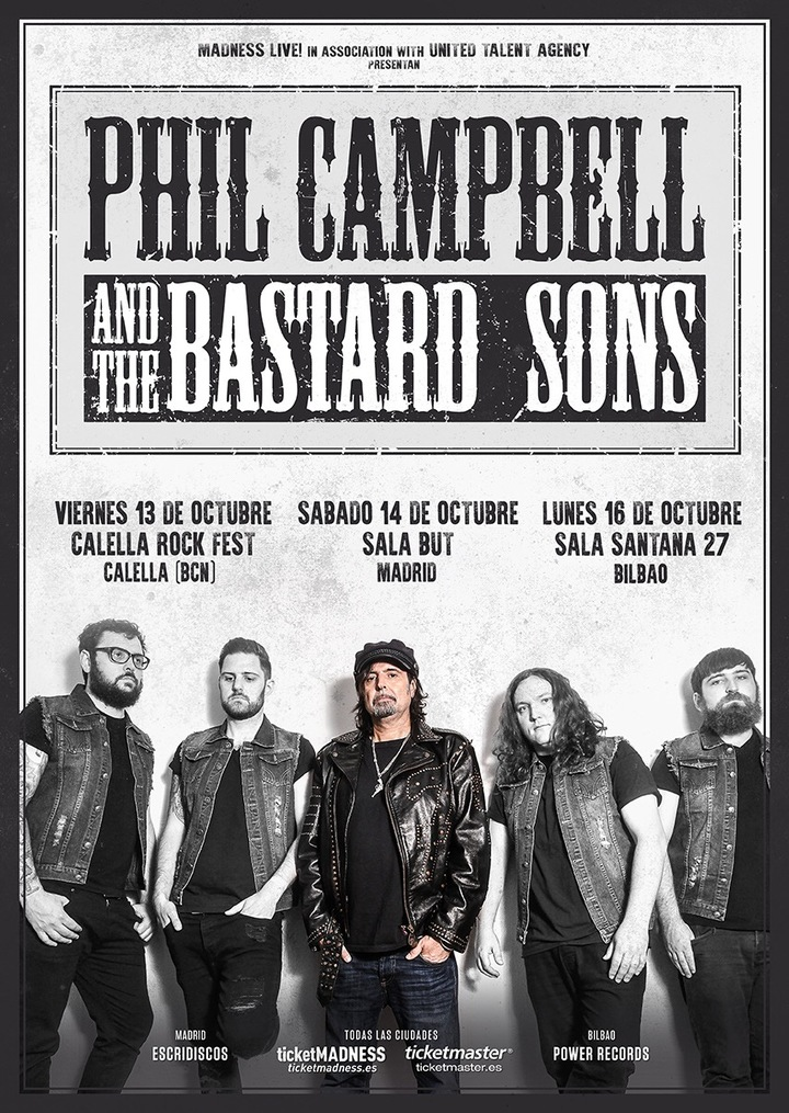 Phil Campbell and the Bastard Sons @ Calella Rock Festival  - Calella, Spain