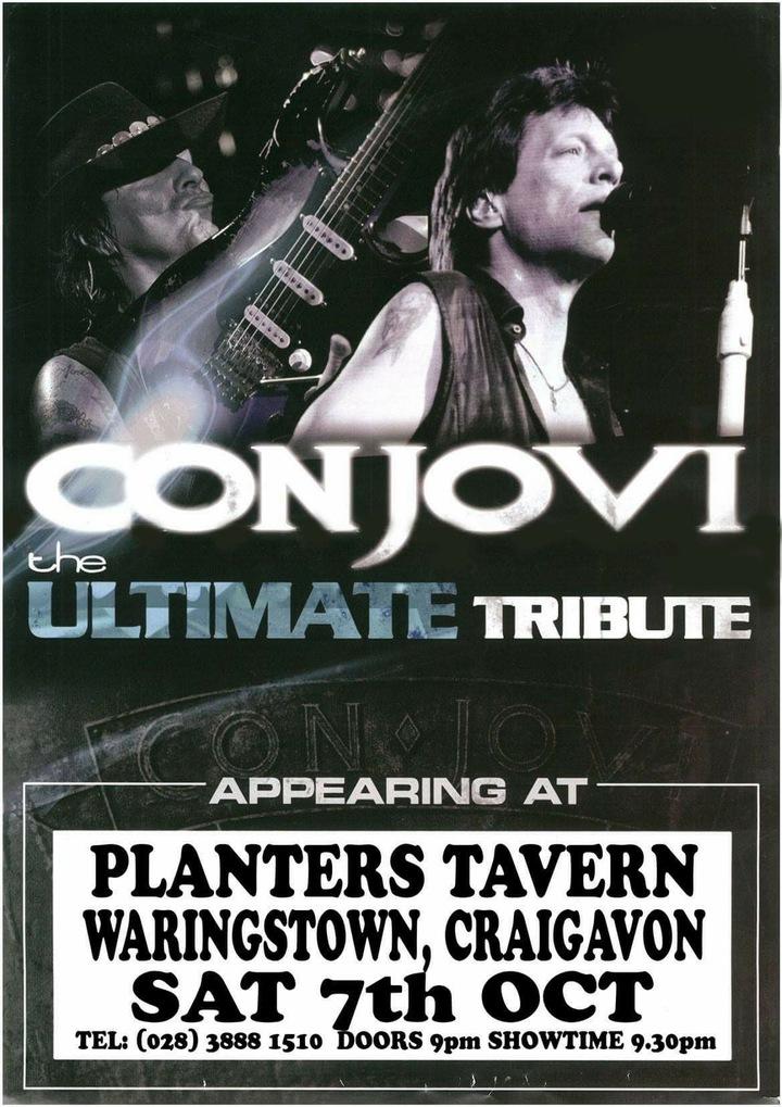 Con Jovi @ Planters Tavern - Waringstown, United Kingdom