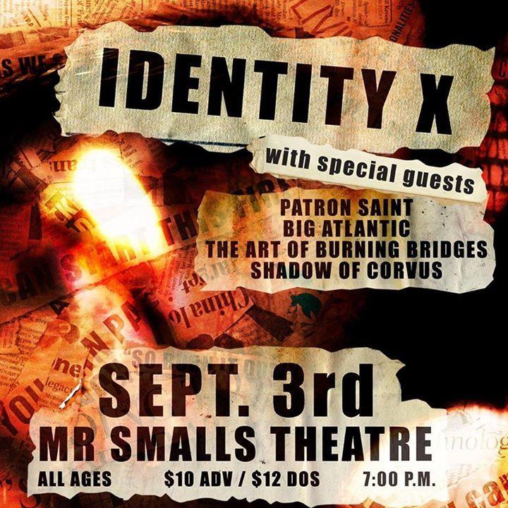 Identity X Tour Dates