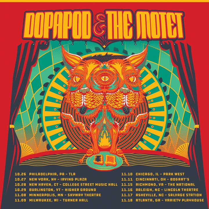 The Motet @ Dopapod + The Motet @ College Street Music Hall - New Haven, CT