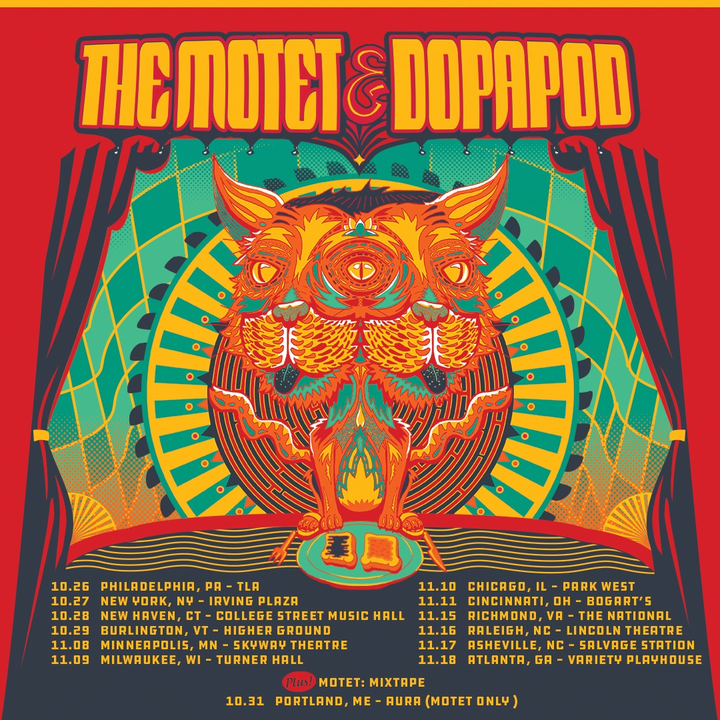 The Motet @ The Motet + Dopapod @ Salvage Station  - Asheville, NC