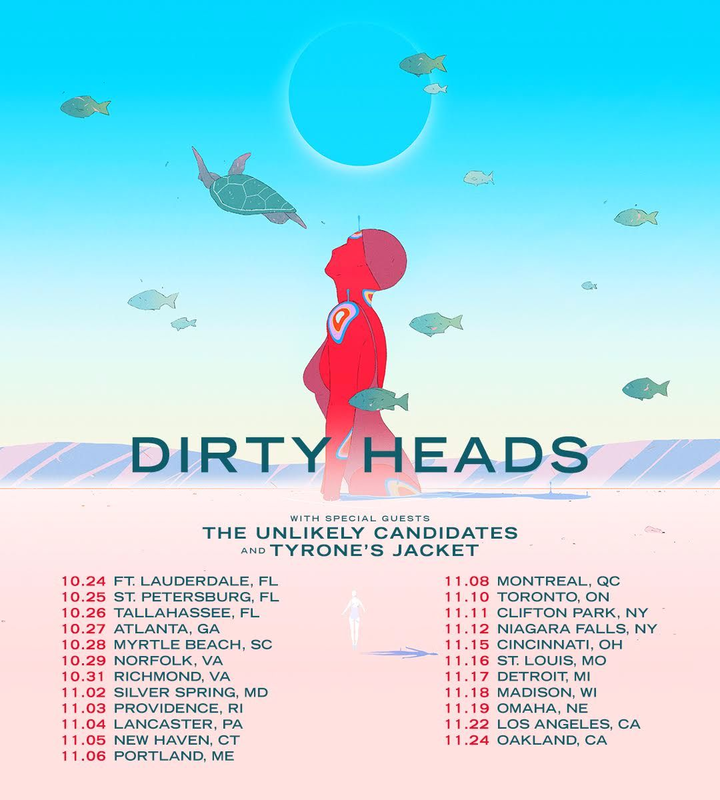 The Unlikely Candidates @ The Moon w/ Dirty Heads & Tyrone's Jacket - Tallahassee, FL