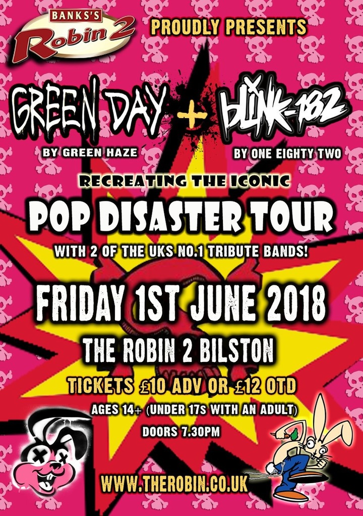 182 - UK Tribute Act To Blink 182 @ The Robin2  - Bilston, United Kingdom