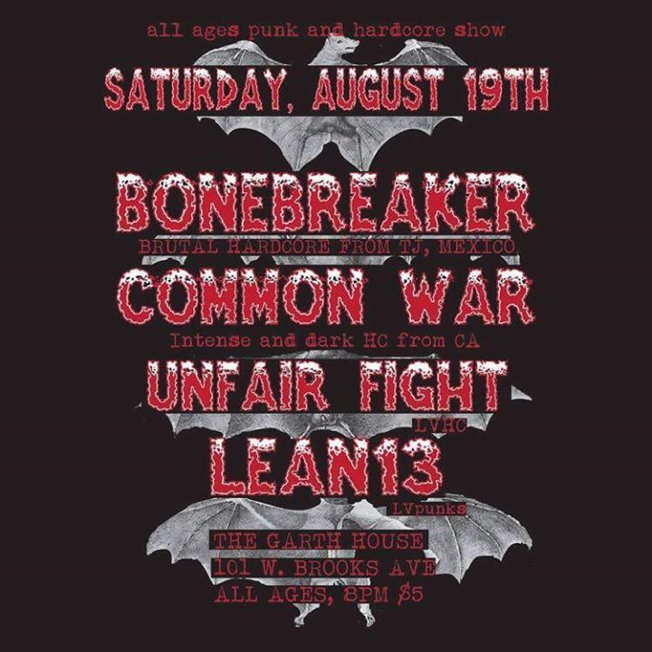 Common War Tour Dates