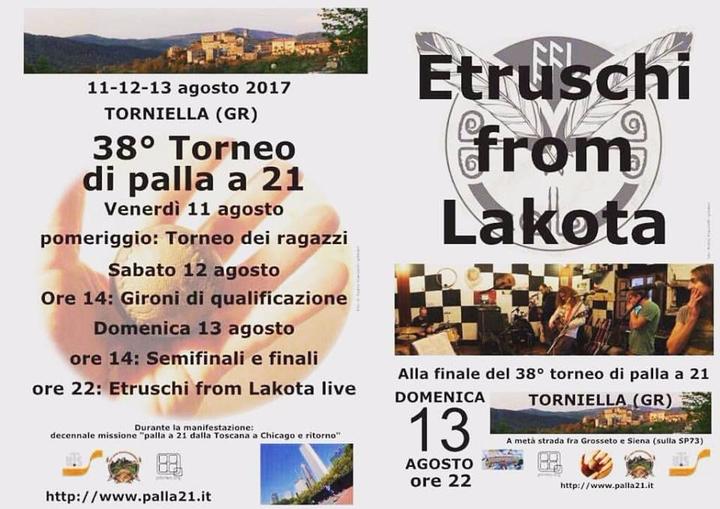Etruschi From Lakota @ Etruschi from Lakota at 38° Torneo di Palla 21 a Torniella (Gr) - Roccastrada, Italy