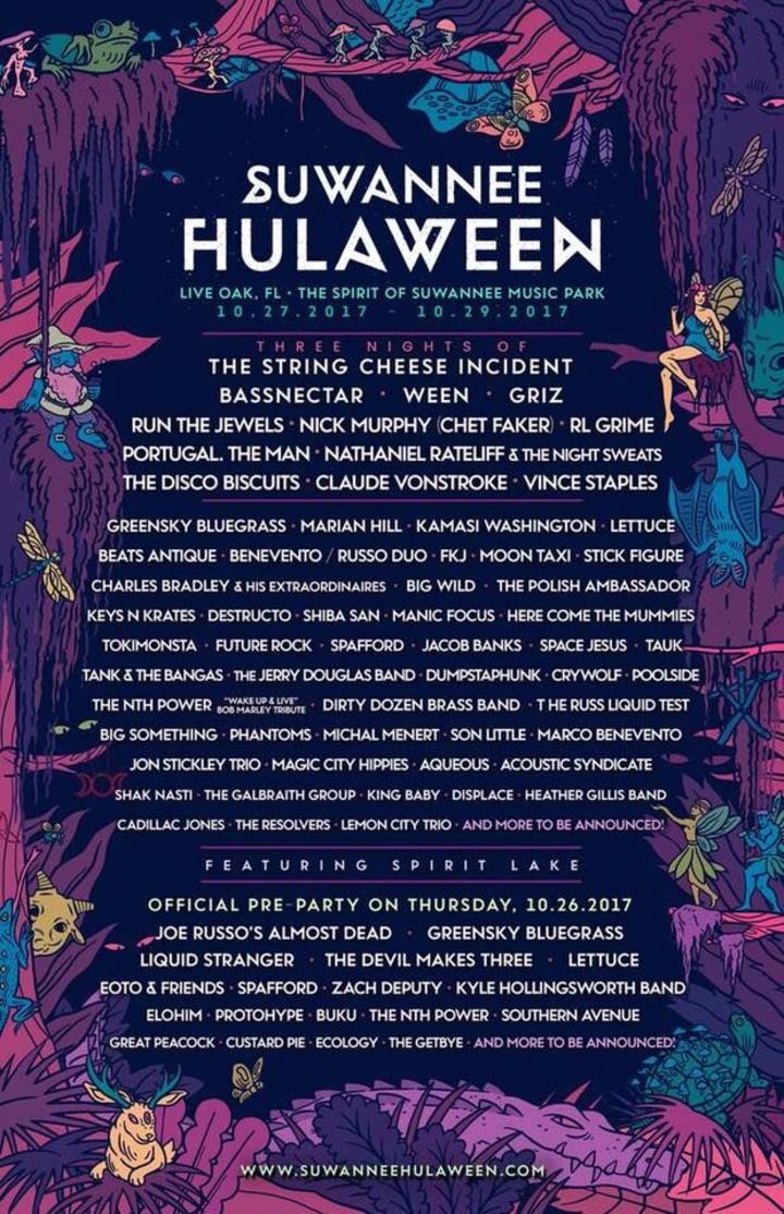 Vlad the Inhaler @ Suwannee Hulaween 2017 Silent Disco - Live Oak, FL