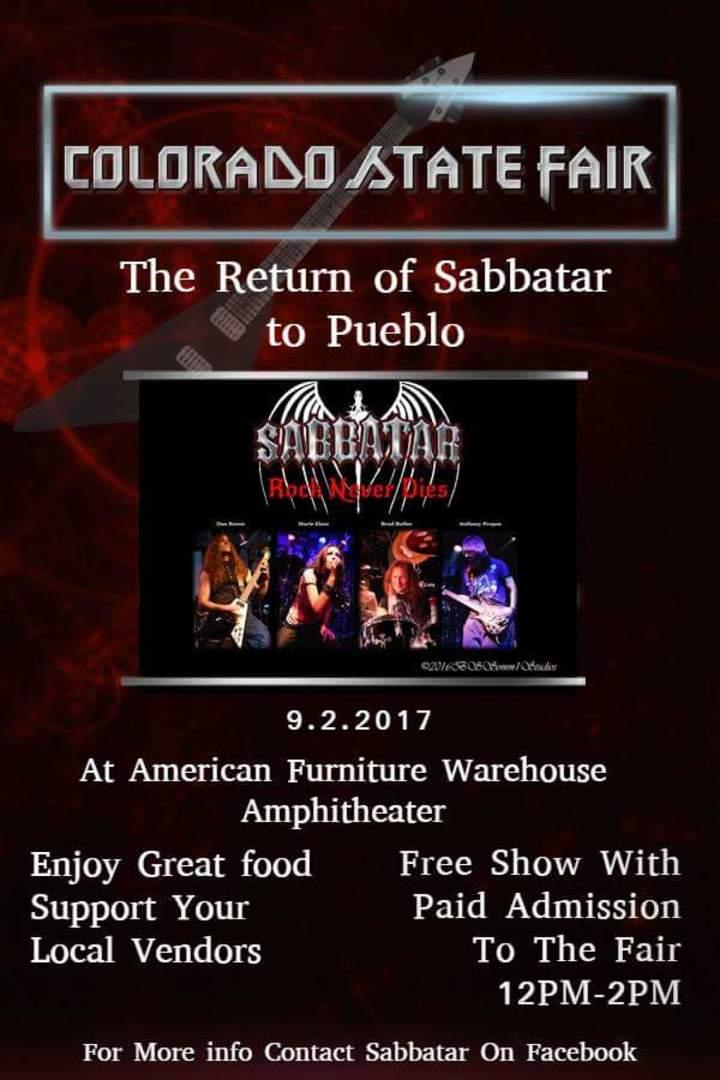Sabbatar @ Colorado State Fair AFW Amphitheater  - Pueblo, CO
