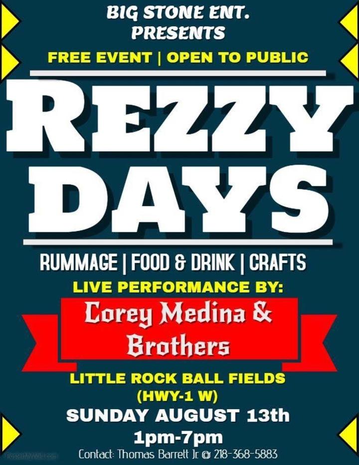 Corey Medina & Brothers @ Rezzy Days Festival  - Little Rock, MN