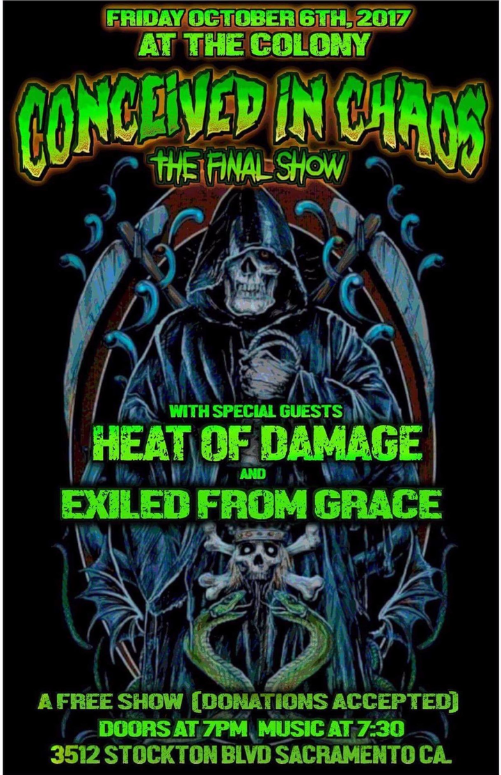 Exiled From Grace @ The Colony - Sacramento, CA