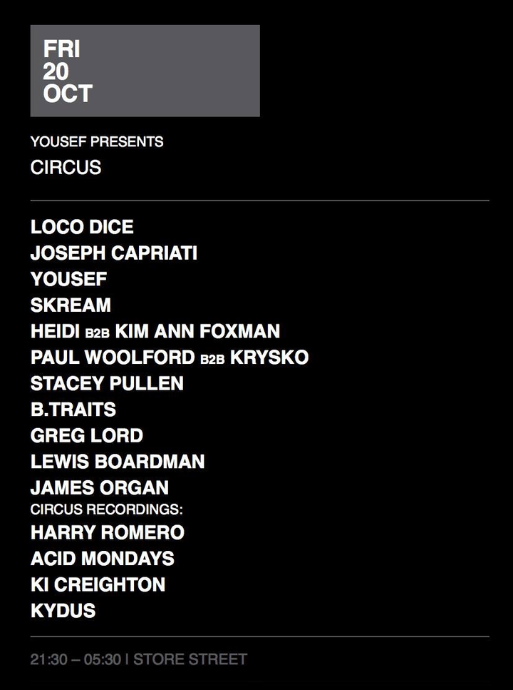 James Organ @ The Warehouse Project (Circus)  - Manchester, United Kingdom