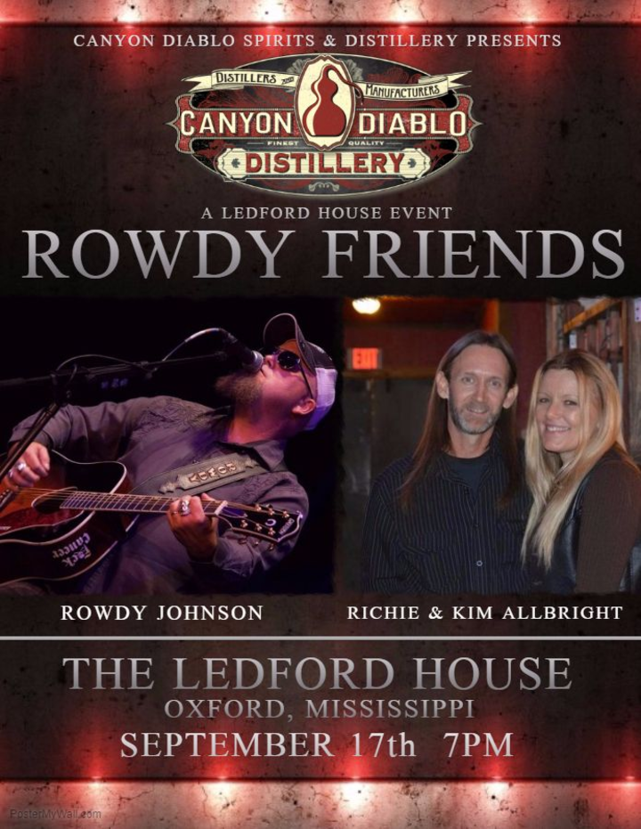Rowdy Johnson Band @ Ledford House - Oxford, MS