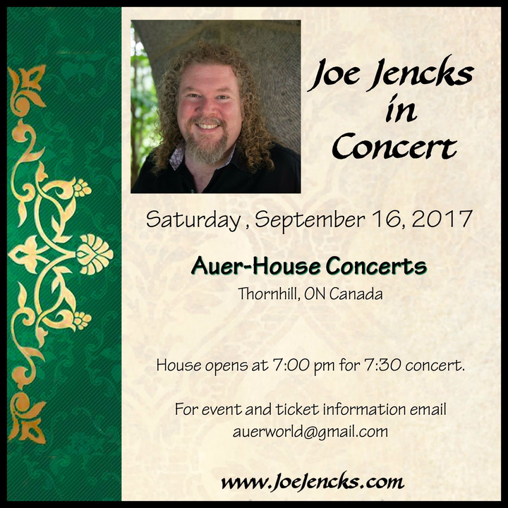 Joe Jencks @ Auer-House Concerts - Thornhill, Canada