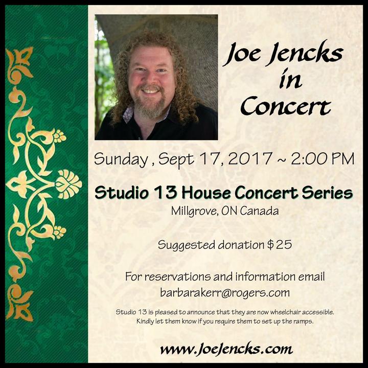 Joe Jencks @ Studio 13 House Concert Series - Millgrove, Canada