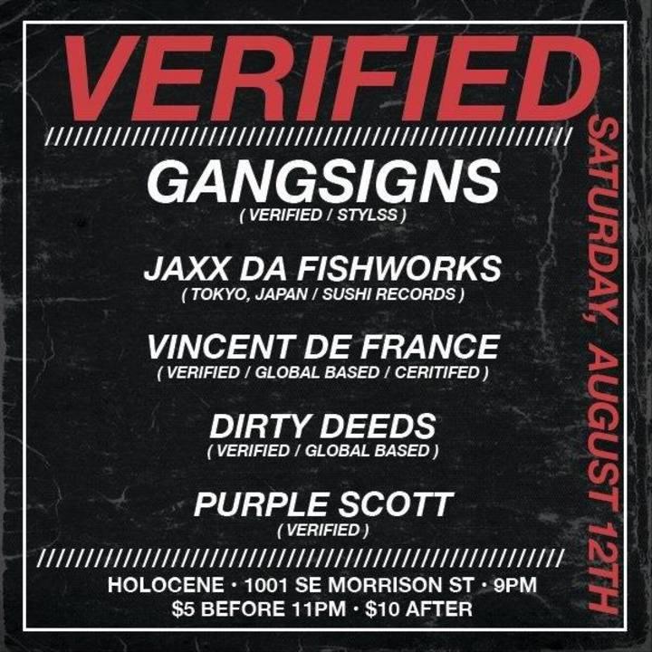 Gang$ign$ Tour Dates