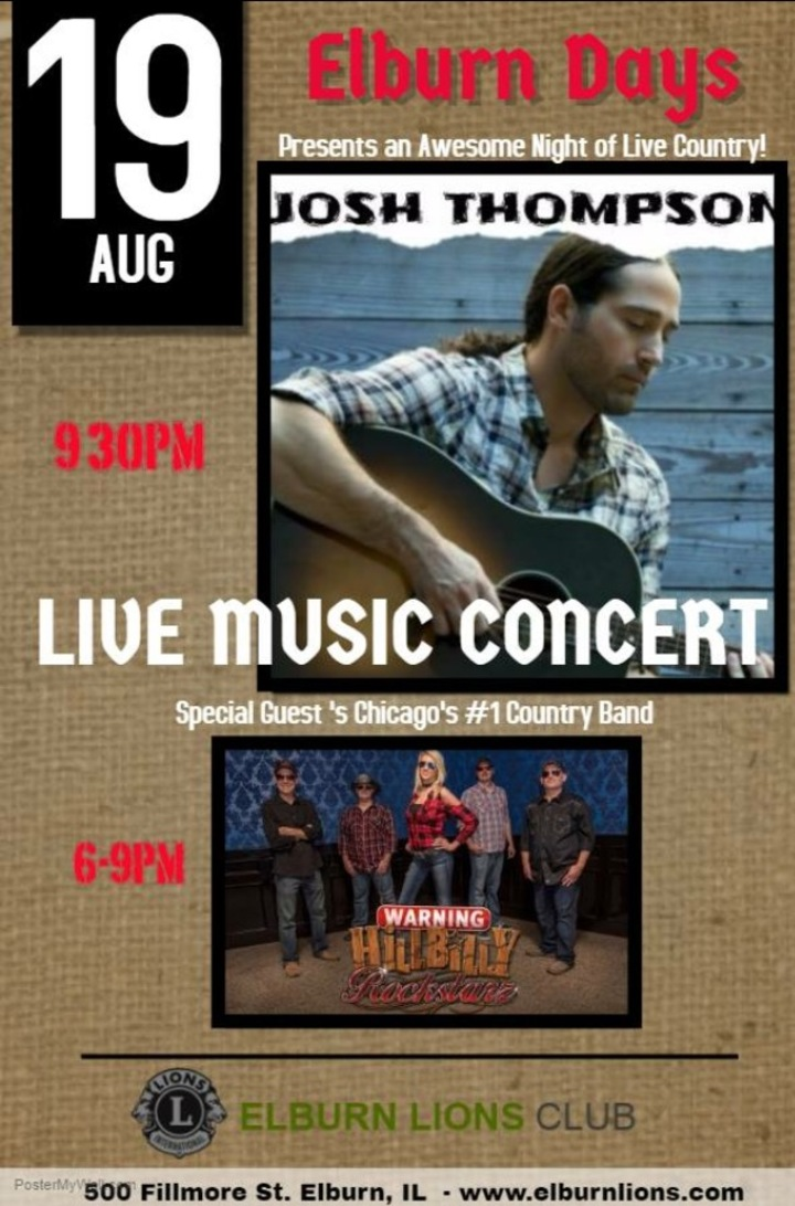 Hillbilly Rockstarz @ Elburn Days Opening For Josh Thompson - Elburn, IL