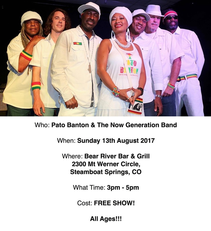 Pato Banton @ Bear River Bar & Grill - Steamboat Springs, CO