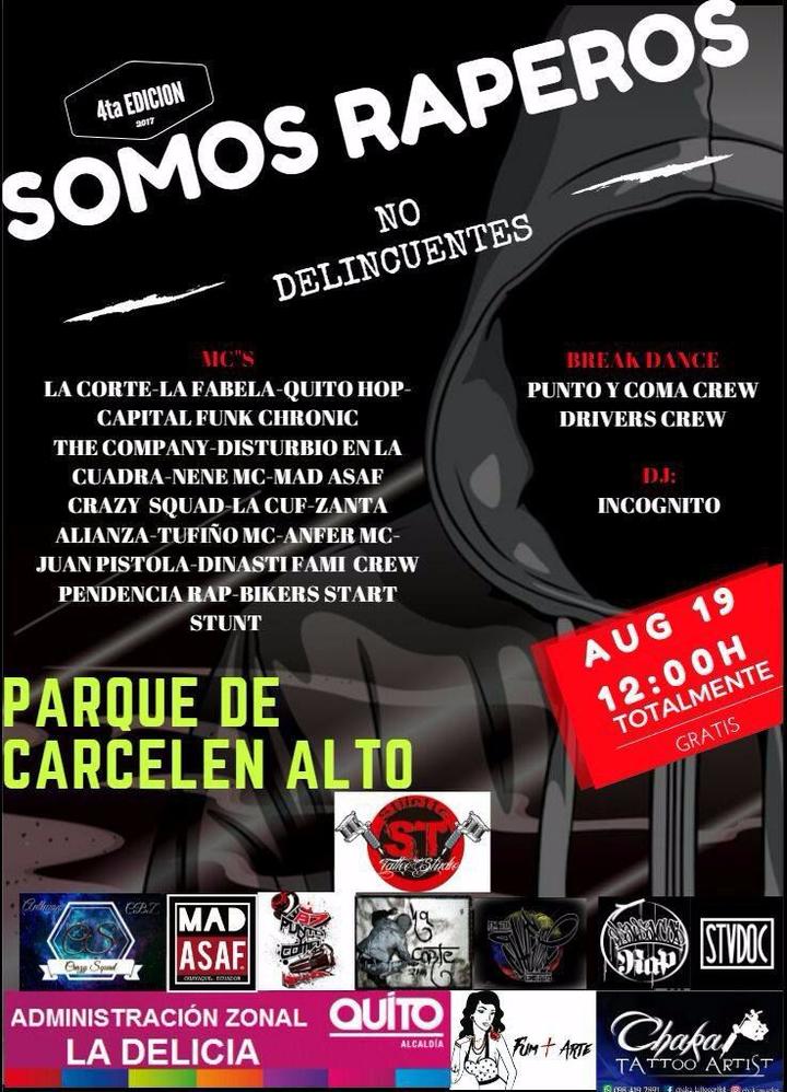 Quitohop RAP Ecuador @ Somos Raperos No delincuentes - Quito, Ecuador
