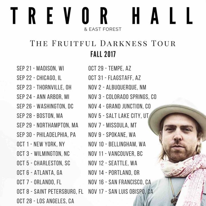 Trevor Hall Tour Dates