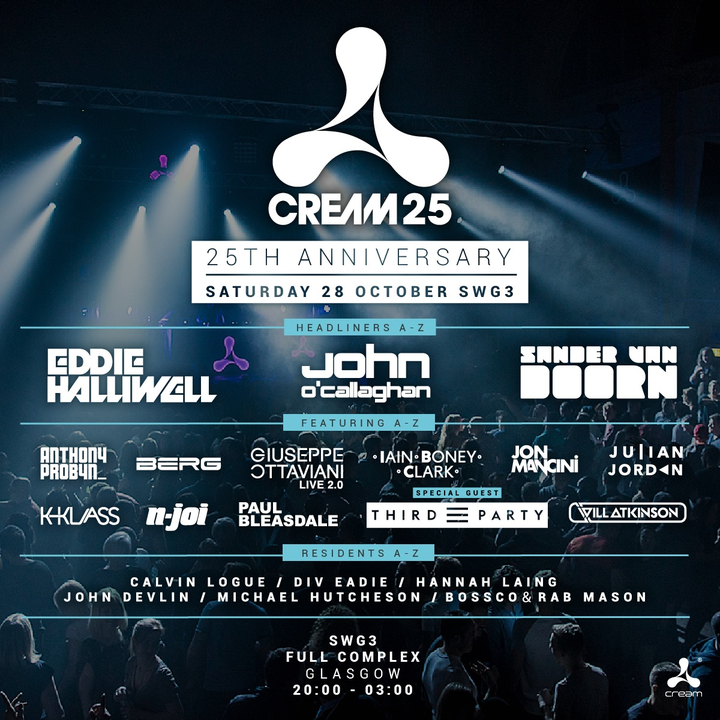 Eddie Halliwell @ Colours present Cream 25 SWG3 - Glasgow, United Kingdom
