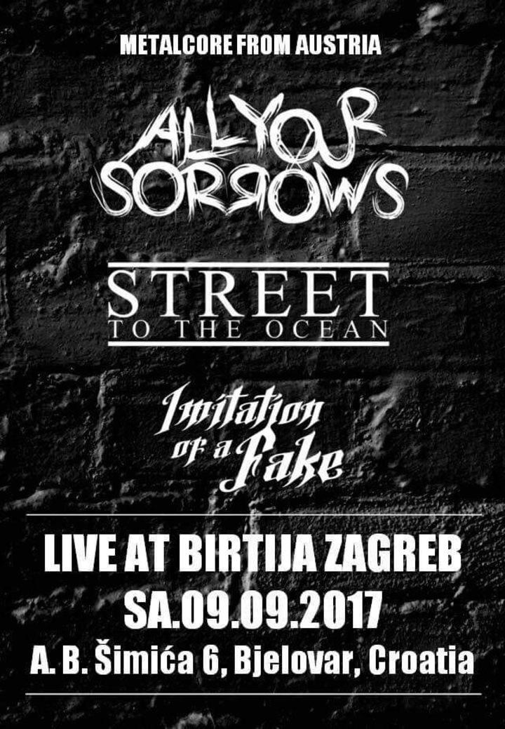 All Your Sorrows @ Birtija Zagreb - Bjelovar, Croatia
