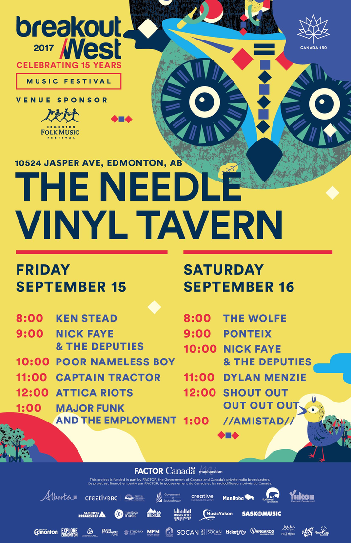 Amistad @ The Needle Vinyl Tavern (BreakOut West) - Edmonton, Canada