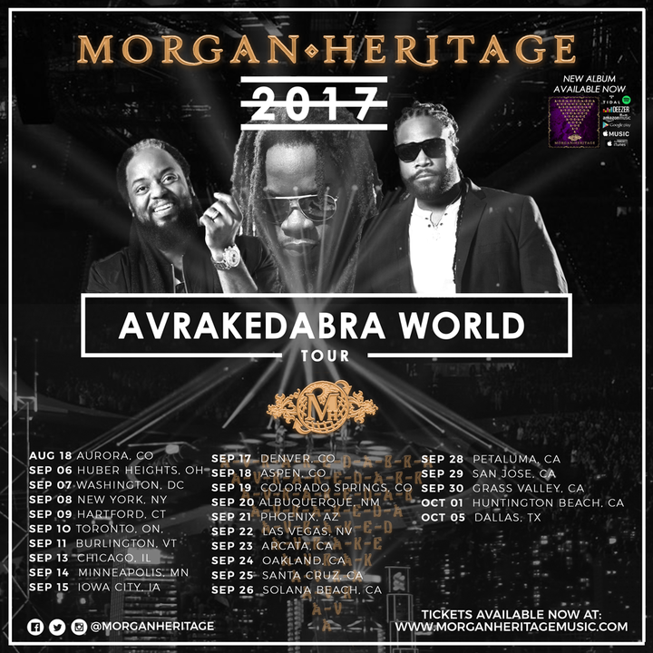 The Royal Family of Reggae Morgan Heritage @ Rose Music Center At The Heights  - Huber Heights, OH