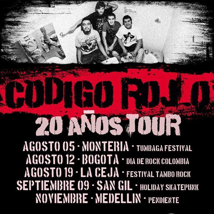 codigo rojo Tour Dates