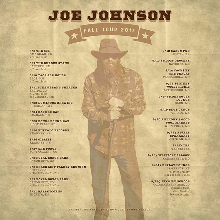 Joe Johnson Music Tour Dates
