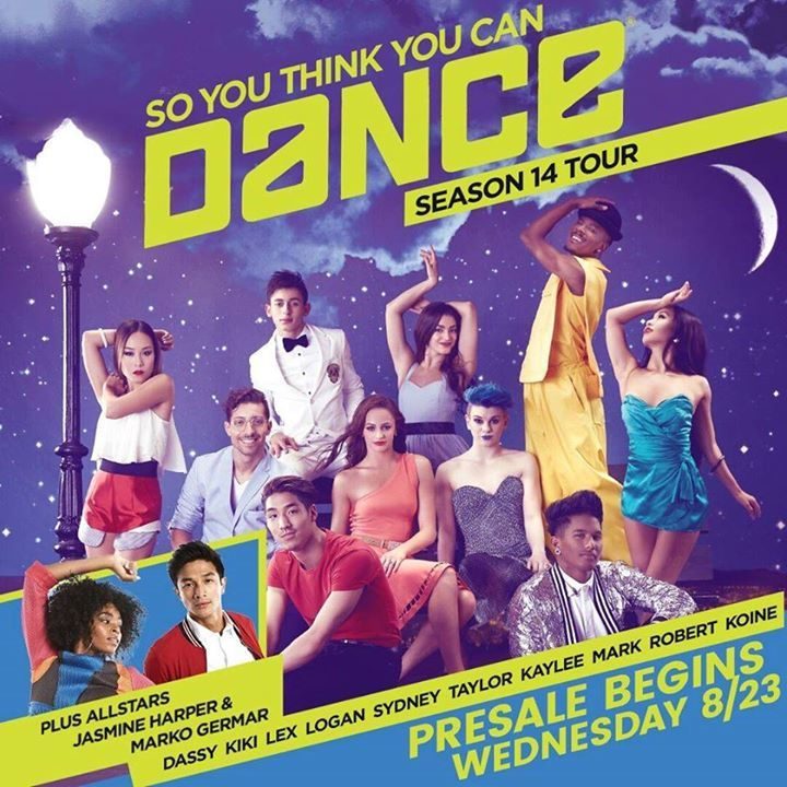 So You Think You Can Dance Live Tour Tour Dates