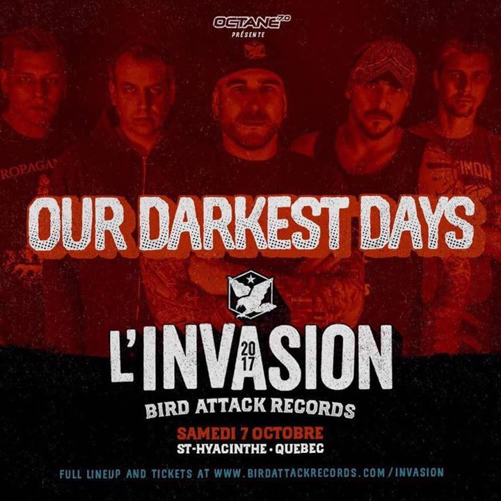 Our Darkest Days @ Pavillion des Pionniers - St-Hyacinthe, Canada