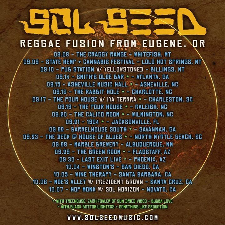 Sol Seed @ The Pour House Music Hall - Raleigh, NC