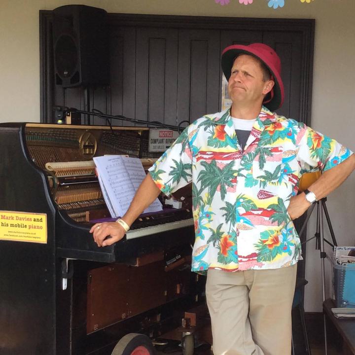 Mark Davies and his mobile piano @ Blind Veterans UK - Brighton, United Kingdom