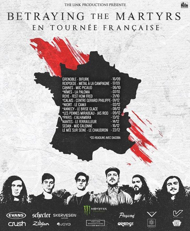 BETRAYING THE MARTYRS @ Alhambra - Paris, France
