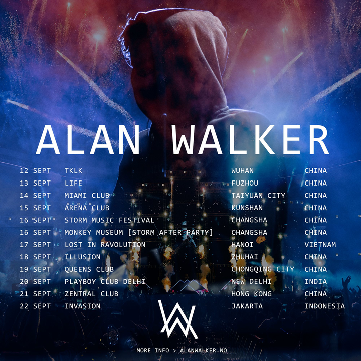 Alan Walker @ Miami Club - Taiyuan, China
