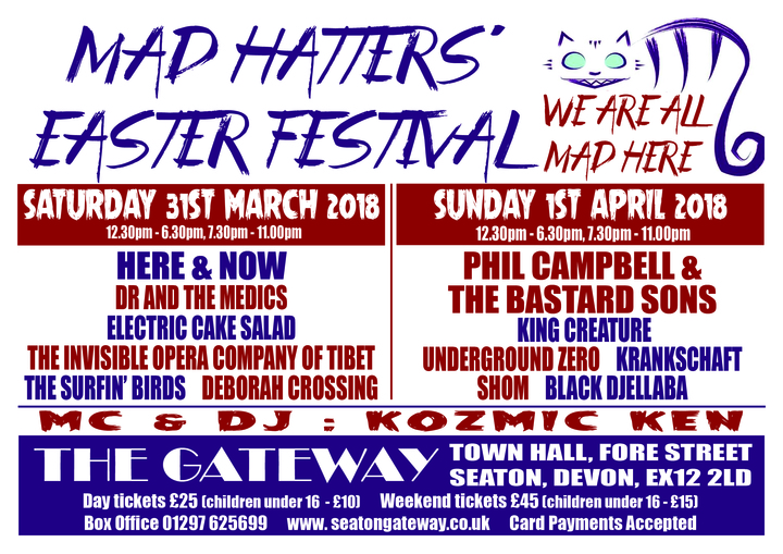 Phil Campbell and the Bastard Sons @ Mad Hatters Festival @ The Gateway Town Hall  - Seaton, United Kingdom
