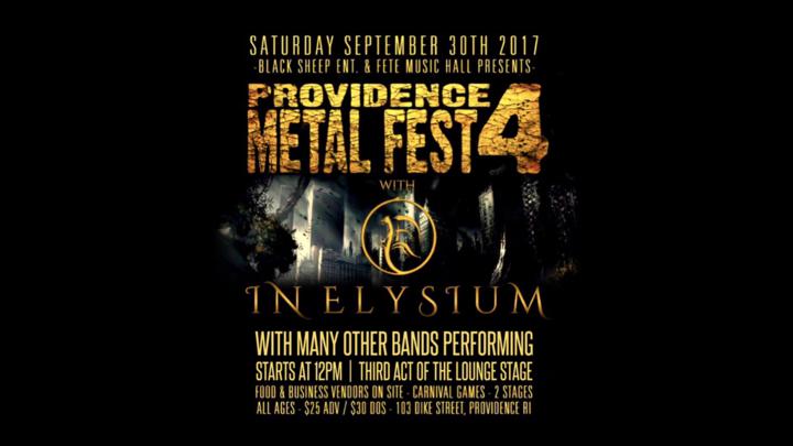 In Elysium @ Fete Music Hall - Providence, RI