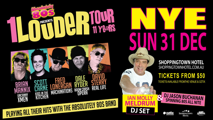 Absolutely 80s presents @ NYE Sunday 31th December – Shoppingtown Hotel- Doncaster VIC - Melbourne, Australia