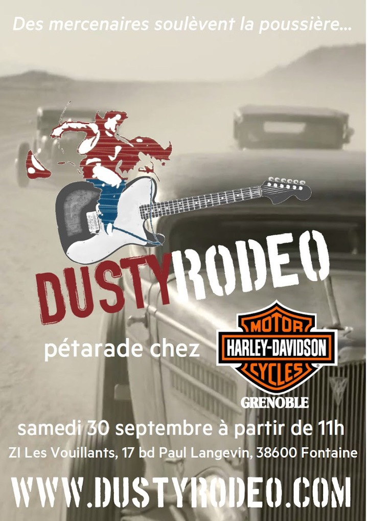 Dusty Rodeo @ Harley-Davidson Grenoble - Fontaine, France