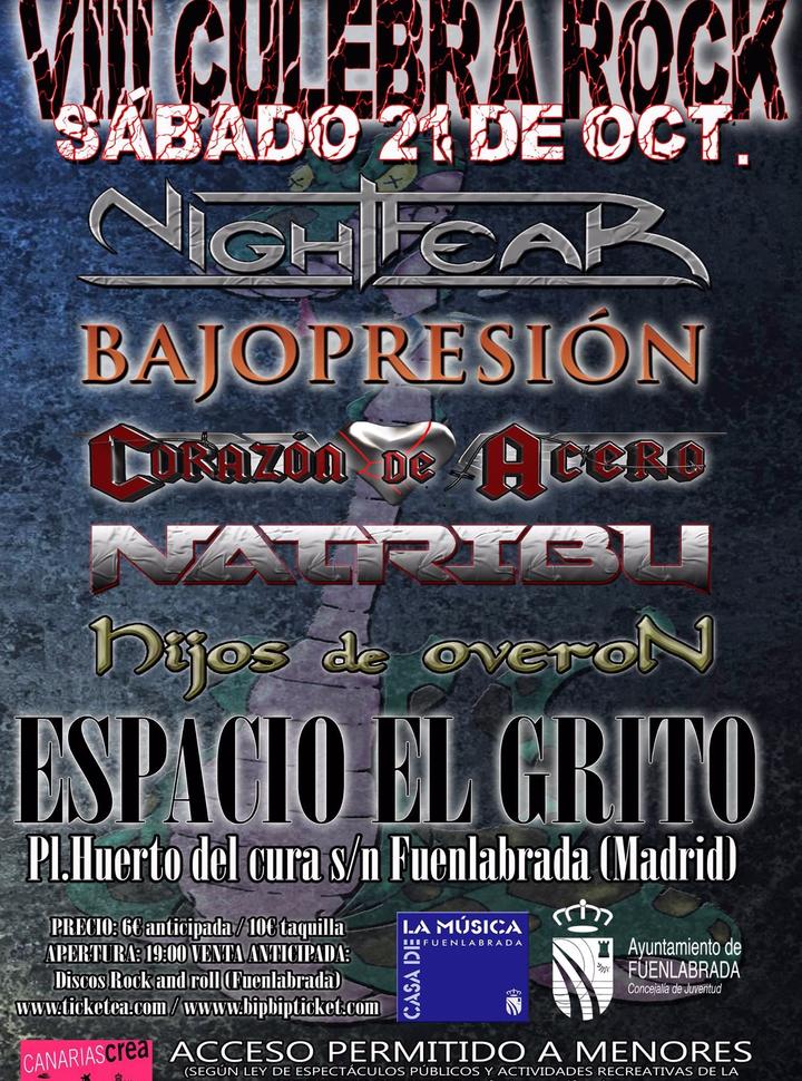 NATRIBU @ VIII CULEBRA ROCK - Fuenlabrada, Spain