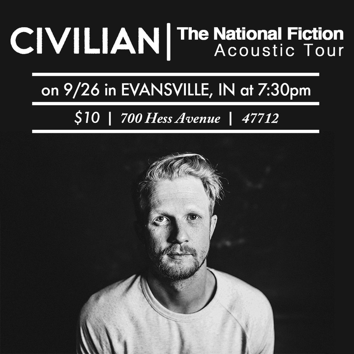 Civilian @ Evansville House Show- National Fiction Acoustic Tour - Evansville, IN