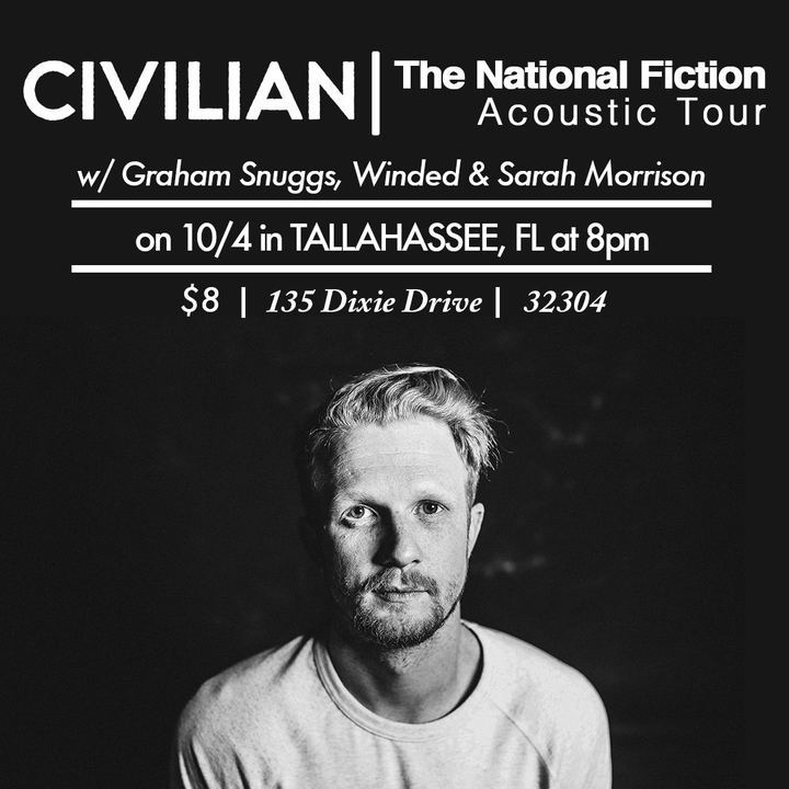 Civilian @ Tallahassee House Show- National Fiction Acoustic Tour - Tallahassee, FL