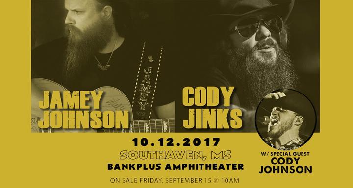 Cody Jinks @ BankPlus Amphitheater - Southaven, MS