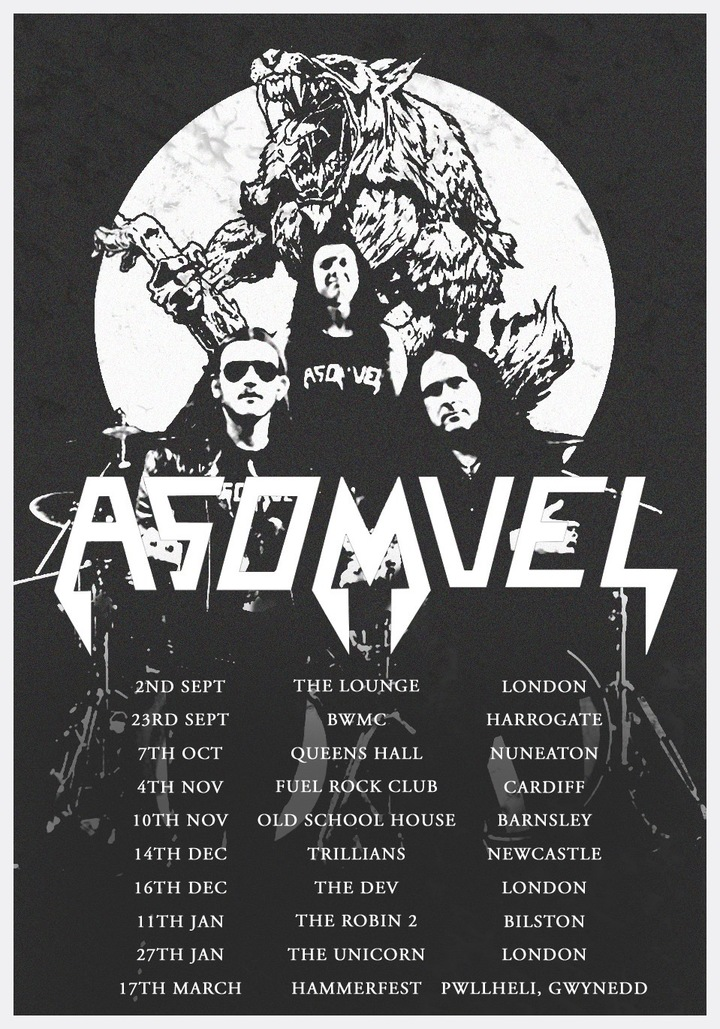 Asomvel @ Fuel Rock Club - Cardiff, United Kingdom