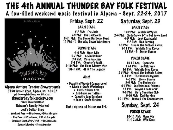 Kevin Ballmer @ The Thunderbay Folk Festival - Alpena, MI