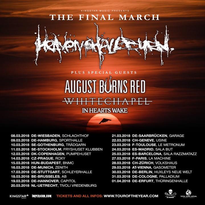 Heaven Shall Burn @ sporthalle hamburg - Hamburg, Germany
