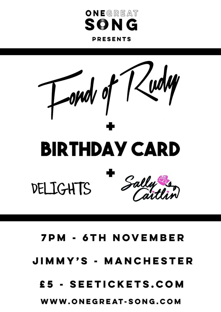 Fond Of Rudy @ Jimmy's - Manchester, United Kingdom