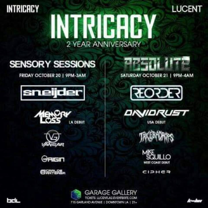 Intricacy Tour Dates