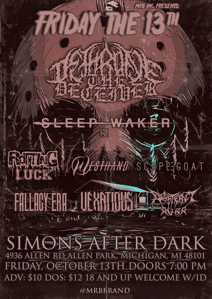 Dethrone The Deceiver @ Simons After Dark  - Allen Park, MI