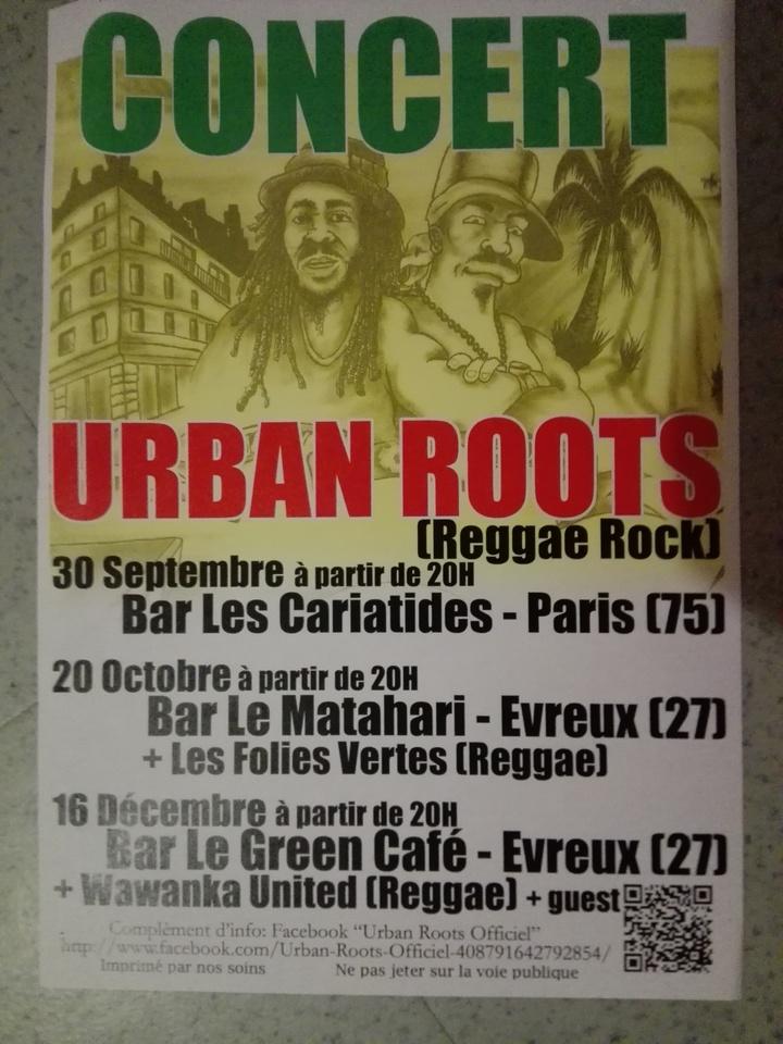 Urban Roots @ Bar Les Cariatides - Paris, France