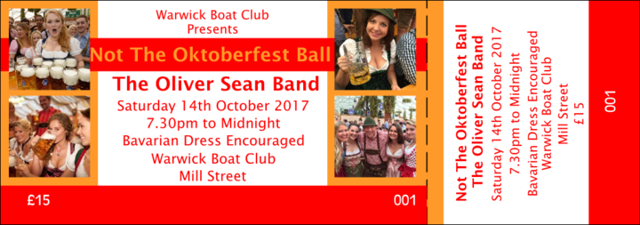 Oliver Sean @ Not Oktoberfest Ball @ Warwick Boat Club - Warwick, United Kingdom